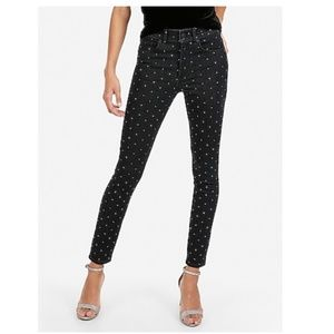 NWT Express Rhinestone Studded Ankle Jeans